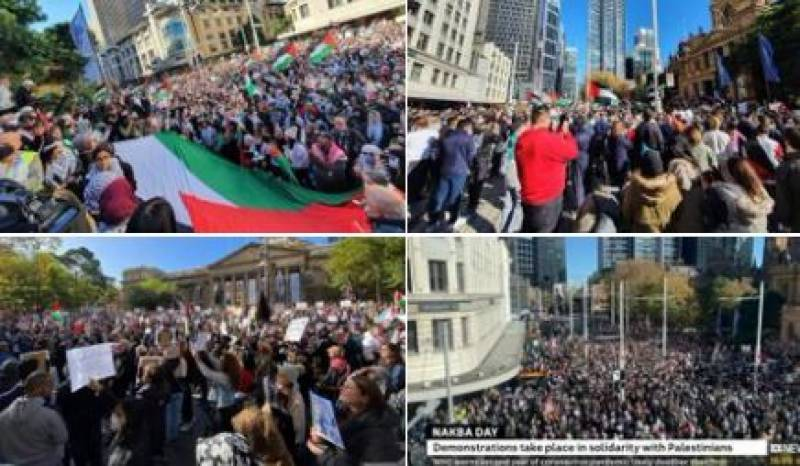 مقبوضہ فلسطین پر اسرائیلی بمباری کے خلاف دنیا بھر میں احتجاجی مظاہرے پھوٹ پڑے
