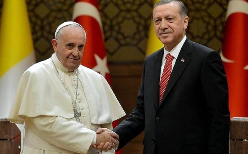 اسرائیل کے فلسطینیوں پر سفاک حملے، ترک صدر نے پوپ فرانسس سے مدد مانگ لی