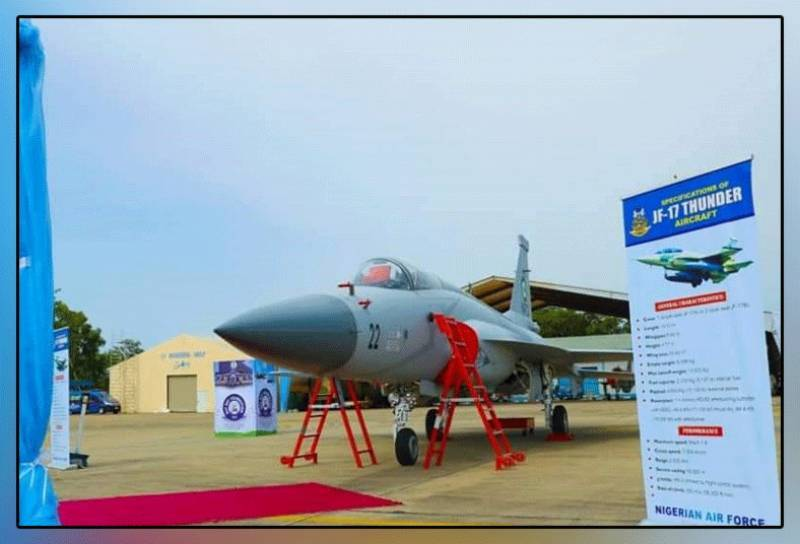 پاکستان میں تیار کردہ 3 جدید جے ایف 17 تھنڈر طیارے نائیجیرین ایئر فورس کے حوالے