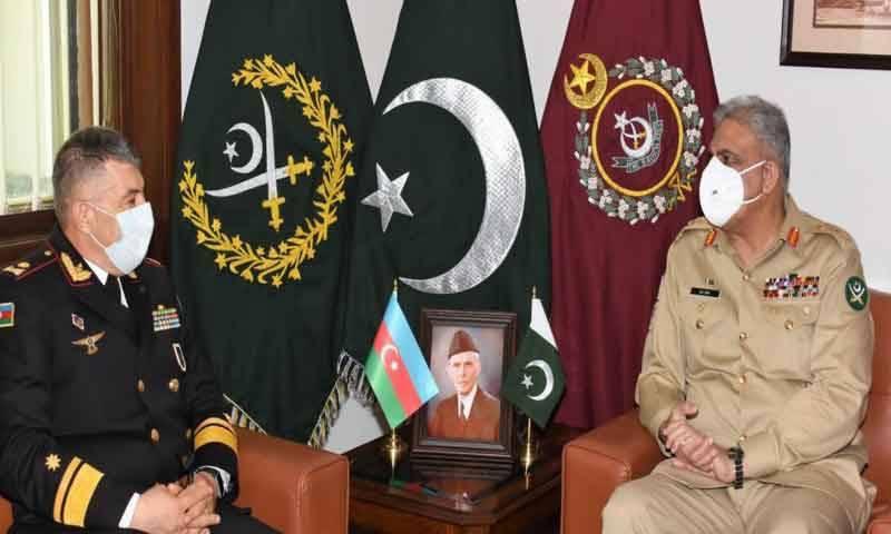آرمی چیف سے آذربائیجان کی بحری افواج کے کمانڈر کی ملاقات