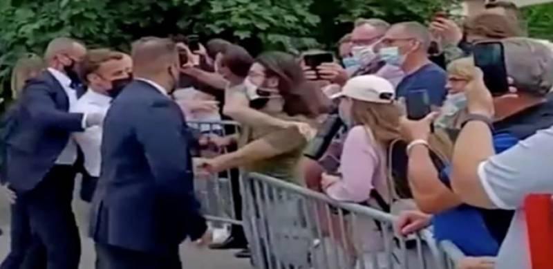 فرانسیسی صدر کو تھپڑ مارنے والے شخص کی تفصیلات سامنے آگئیں