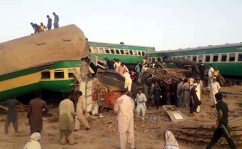 ڈہرکی ٹرین حادثے کے ذمہ دار 7 افسران کے خلاف کارروائی کا فیصلہ