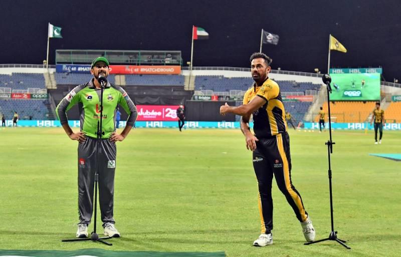 پشاور زلمی کا لاہور قلندرز کے خلاف ٹاس جیت کر فیلڈنگ کا فیصلہ