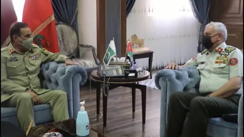 جنرل ندیم رضا کی اردنی ہم منصب سے ملاقات،فوجی تعاون بڑھانے پر تبادلہ خیال