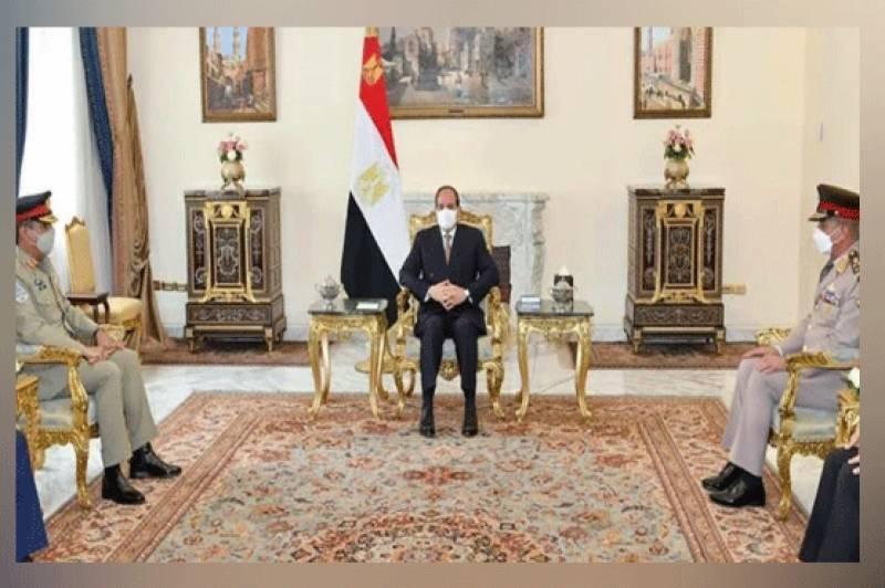 جنرل ندیم رضا کی مصری صدر سے ملاقات، اہم امور اور سیکیورٹی تعاون بڑھانے پر گفتگو