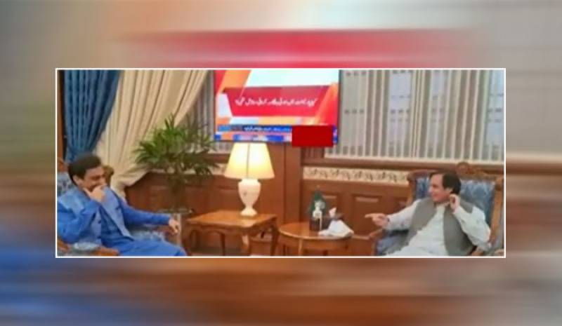 Ch pervaiz elahi and hamza shahbaz sharif meeting