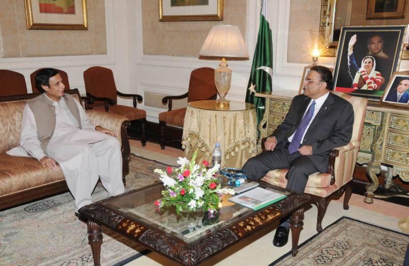 پرویز الٰہی کی سابق صدر آصف زرداری سے ملاقات
