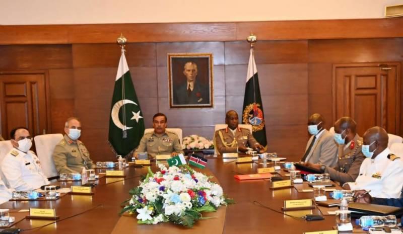 کینیا کے چیف آف ڈیفنس کا دورہ پاکستان، پاک فوج کی صلاحیتوں کی تعریف