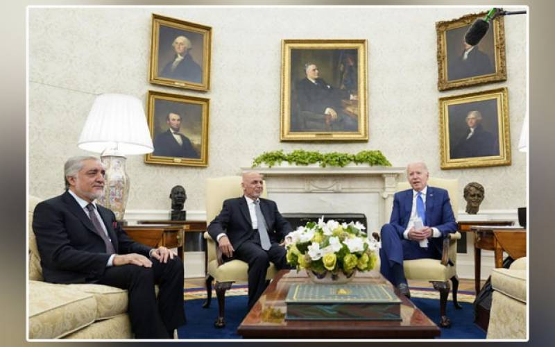 US President, Joe Biden, Ashraf Ghani, Chief Executive, Abdullah Abdullah