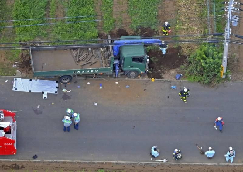 Japan,schoolchildren killed,,truck plows into group
