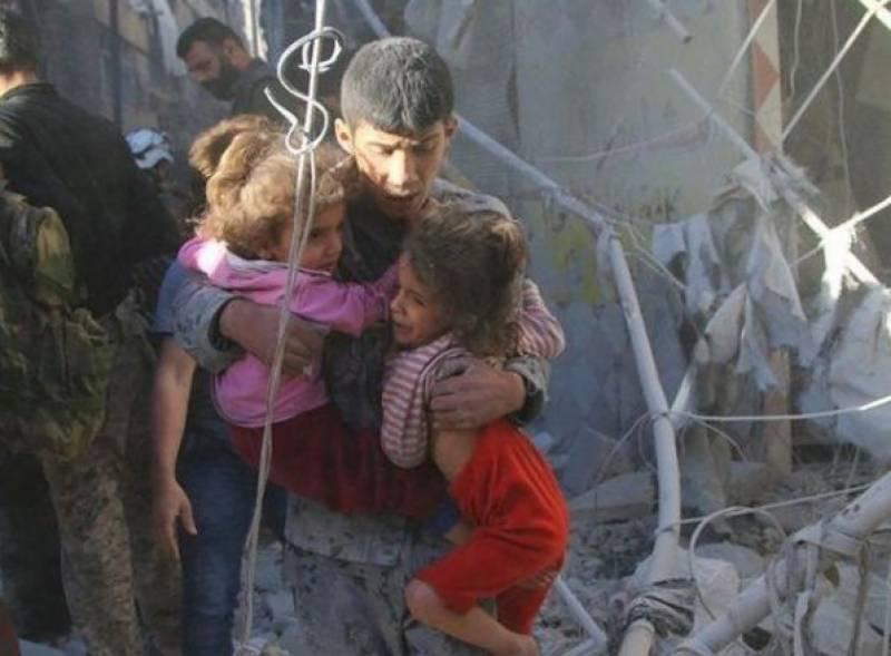 شام میں اتحادی افواج کی فضائی بمباری میں 6 بچوں سمیت 8 افراد جاں بحق