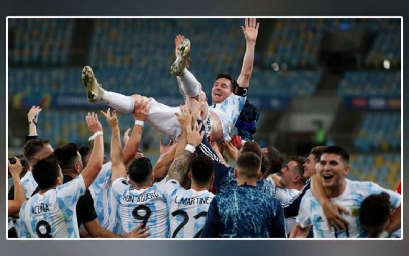 Copa America 2021 Final, Argentina, Brazil, Messi first senior, International trophy