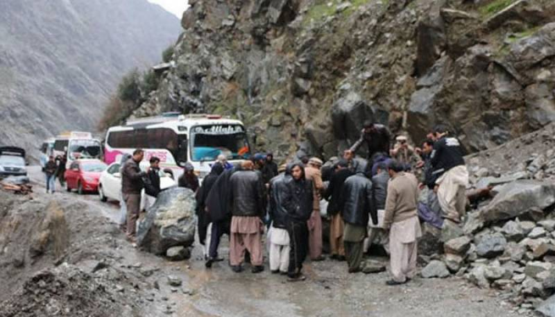 Gilgit Baltistan,Land Sliding