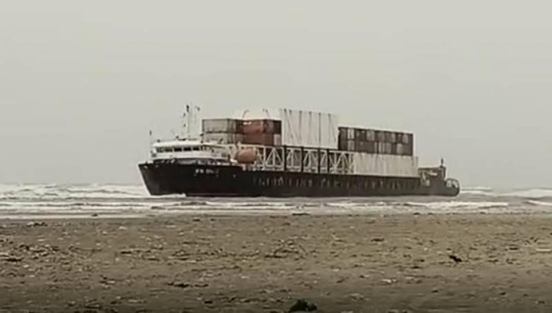 Karachi Seaview,Cantainer Ship,