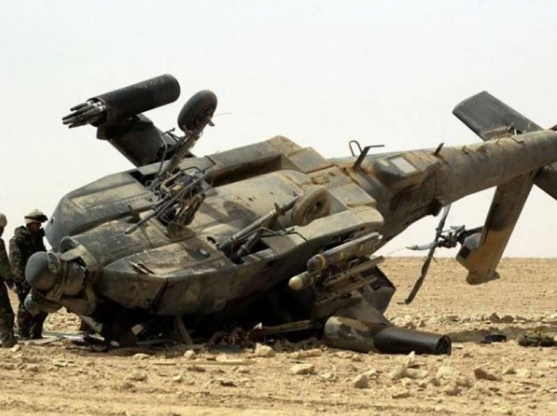 بغداد میں عراقی فوج کا ہیلی کاپٹر گرکر تباہ ، 5 افراد ہلاک