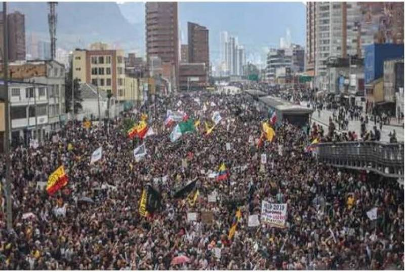 کولمبیا میں حکومت مخالف احتجاج زور پکڑنے لگا