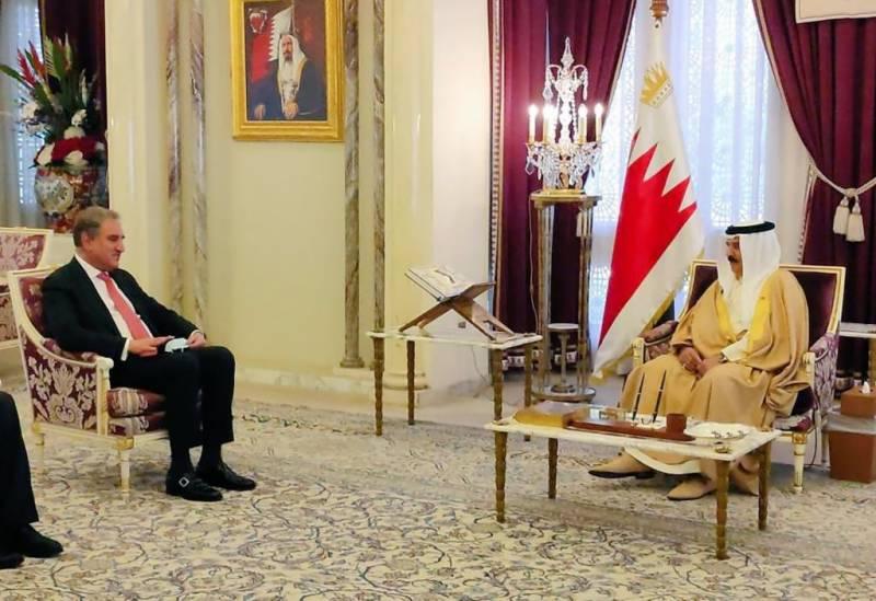 وزیر خارجہ شاہ محمود قریشی کی شاہ بحرین کو دورہ پاکستان کی دعوت