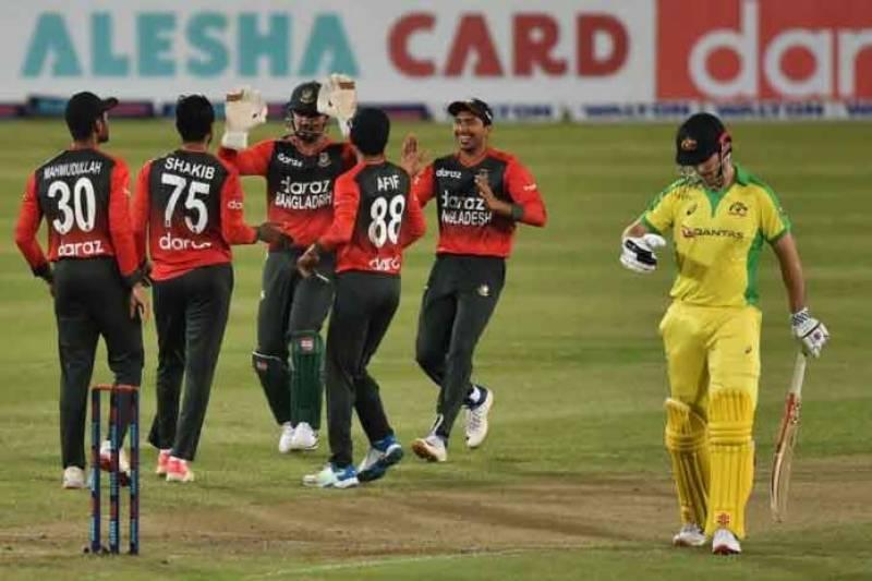 بنگلہ دیش نے پہلی بار آسٹریلیا کو ٹی ٹوئنٹی میچ میں شکست دیدی