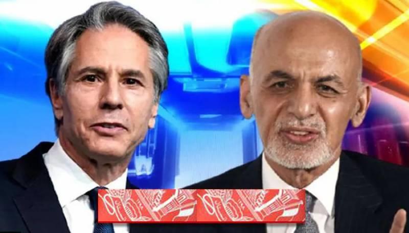 Ashraf Ghani And Antony blinken,Ashraf Ghani,Afghanistan,Kabul,US,