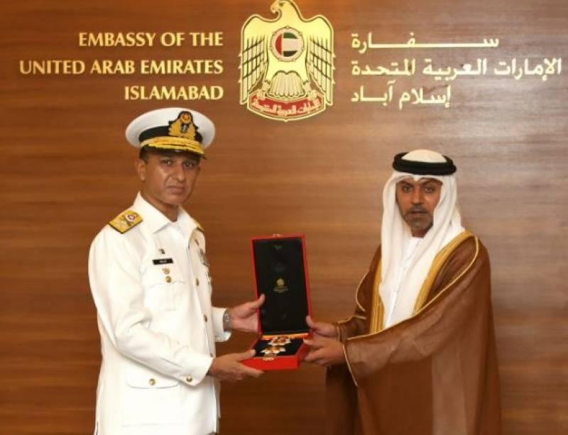 پاک بحریہ کے سربراہ کیلئے یواے ای کا اعلیٰ ترین عسکری اعزاز