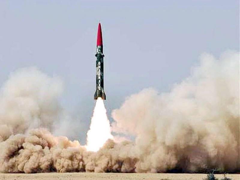Successful test of Pakistan's Ghaznavi ballistic missile