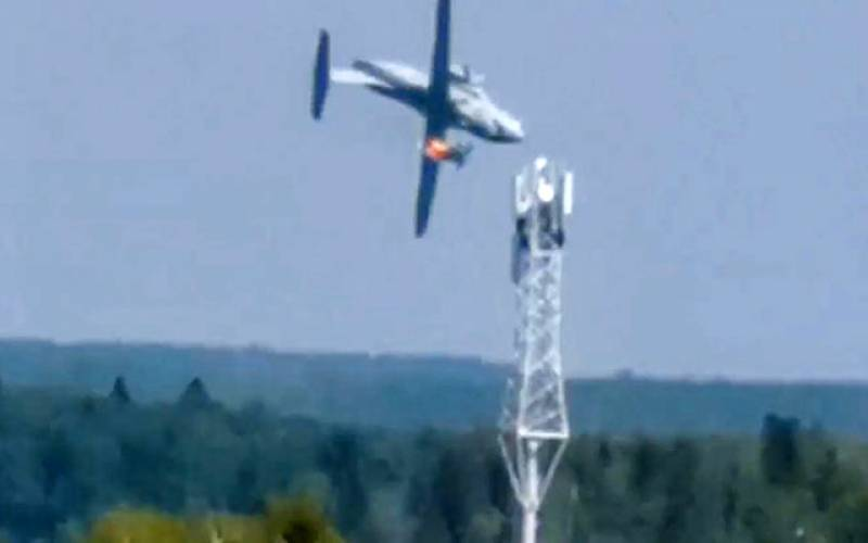 روسی مال بردار طیارہ گر کر تباہ، تین افراد کی ہلاکت کا امکان