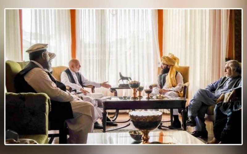 Hamid Karzai, Abdullah Abdullah, Taliban, political delegation, Kabul