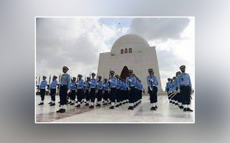 Defence and Martyrs Day, Pakistan Air Force, cadets, duties, guards, Mazar-e-Quaid