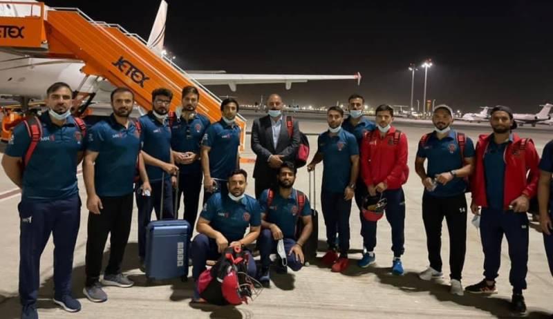 افغانستان کی کرکٹ ٹیم ٹی 20 ورلڈکپ میں شرکت کیلئے دبئی پہنچ گئی