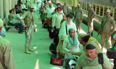 دوہزار سے زائد بھارتی سکھ یاتری گورودوارہ جنم استھان ننکانہ صاحب پہنچ گئے