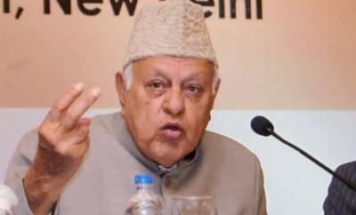 کشمیر ہندوستان کا اٹوٹ انگ تھا نہ ہوگا: فاروق عبداللہ