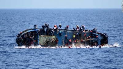 بحیرہ روم میں مزید ساڑھے تین سو مہاجرین لاپتہ