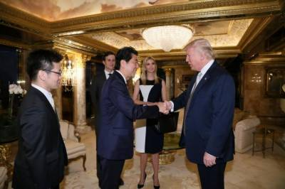 ٹرمپ روس کیخلاف ڈٹ جائیں گے: جاپانی وزیر اعظم کی نومنتخب امریکی صدر سے ملاقات