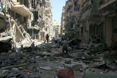 حلب میں شدید بمباری سے ہسپتال، سکول ،بلڈ بینک سمیت ہر طرف تباہی