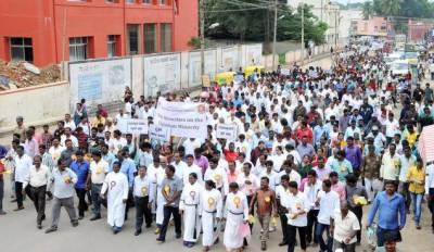 کرسچن کیمونٹی بھارتی جارحیت کے خلاف سراپا احتجاج