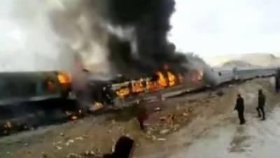 ایران میں ٹرین حادثہ، 36 مسافر ہلاک