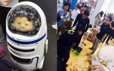 ربوٹ نے شاپنگ مال میں آنے والوں کی ٹھکائی کر دی