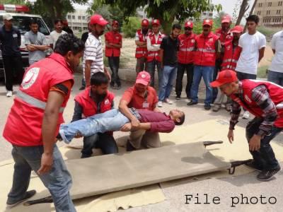 گوجرانوالہ: طالبعلموں میں سول ڈیفنس کی اہمیت اجاگر کرنے کے لیے اسلامیہ کالج میں کیمپ لگایا گیا
