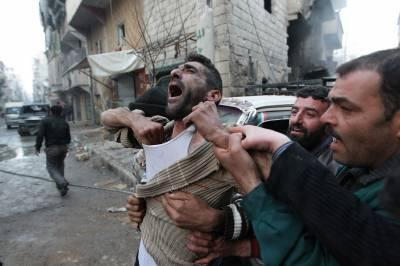 شام اور روس کی حلب میں بمباری سے 50 نمازی شہید