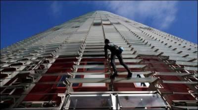 فرانسیسی اسپائیڈر مین 38منزلہ عمارت پر چڑھ گیا