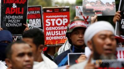میانمار میں روہنگیا آبادی پر تشدد: احتجاجی مظاہرین میں ملائیشیا کے وزیر اعظم بھی