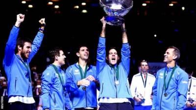 ڈیوس کپ ورلڈگروپ چیمپئن ارجنٹائن ٹینس ٹیم کی وطن واپسی