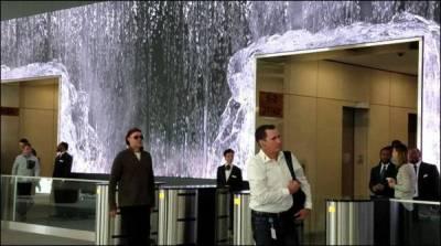 سین فرانسسکو : دفتر میں آبشاریں بہنے لگیں