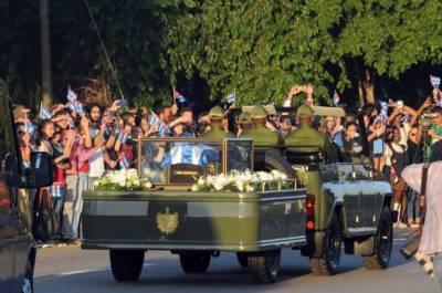 کیوبا کے آنجہانی راہنما فیڈل کاسترو کی آخری رسومات،ہزاروں افراد کی شرکت