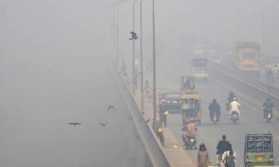 لاہور میں ایک بار پھر اسموگ نے لپیٹ میں لےلیا