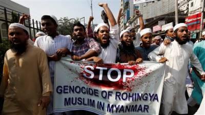 روہنگا مسلمانوں پر تشدد کے خلاف امریکہ میں مظاہرے