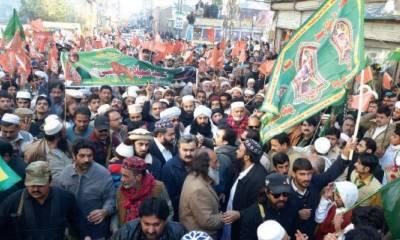 پشاور: عید میلاد النبی کا پہلا جلوس میلاد ہاﺅس گلبہار سے برآمد ہوا