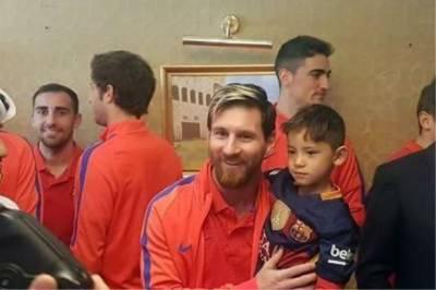 6 سالہ افغان بچے کی بالاخر خواہش پوری ، فٹبال کے عظیم کھلاڑی لیونیل میسی سے ملاقات