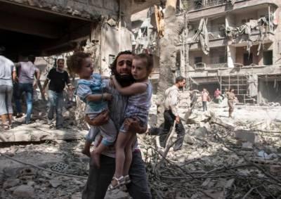 حلب میں جنگ بندی کا اعلان کچھ ہی دیر میں دھماکوں کی گونج میں دب گیا
