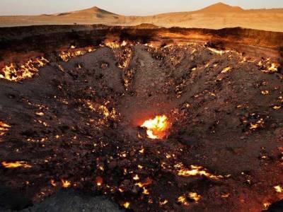 ترکمانستان میں آگ اُگلتا صحرائی گڑھا